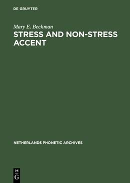 Abbildung von Beckman | Stress and Non-Stress Accent | Reprint 2012 | 1992 | 7