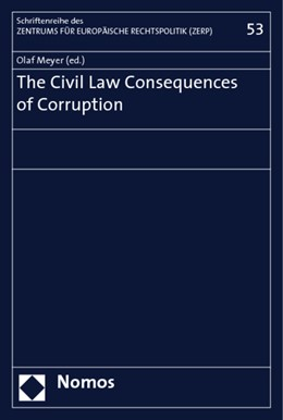 Abbildung von Meyer | The Civil Law Consequences of Corruption | 2009