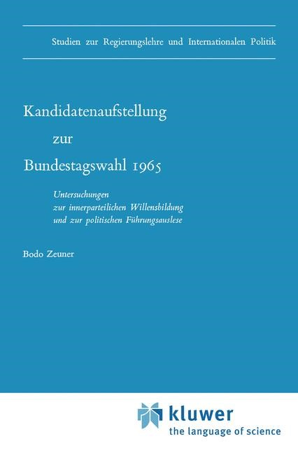 Abbildung von Zeuner | Kandidatenaufstellung zur Bundestagswahl 1965 | 1970