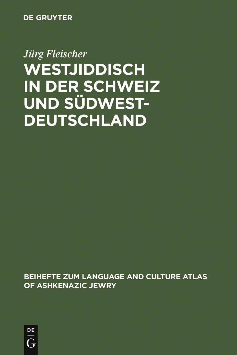 Abbildung von Fleischer | Westjiddisch in der Schweiz und Südwestdeutschland | 2005