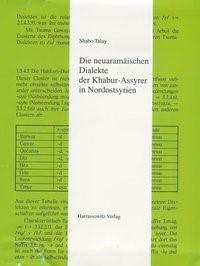 Abbildung von Talay | Die neuaramäischen Dialekte der Khabur-Assyrer in Nordostsyrien