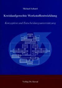 Kreislaufgerechte Werkstoffentwicklung | Achard, 2004 | Buch (Cover)