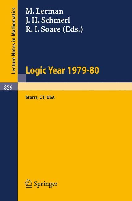 Abbildung von Lerman / Schmerl / Soare | Logic Year 1979-80 | 1981