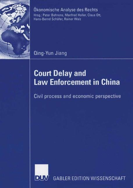 Abbildung von Jiang | Court Delay and Law Enforcement in China | 2006