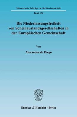 Abbildung von Diego   Die Niederlassungsfreiheit von Scheinauslandsgesellschaften in der Europäischen Gemeinschaft   2004   156