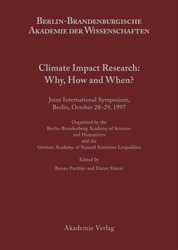 Abbildung von Parthier / Simon | Climate Impact Research: Why, How and When? | 2001 | Joint International Symposium,...