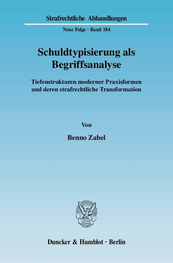 Abbildung von Zabel | Schuldtypisierung als Begriffsanalyse. | 2007