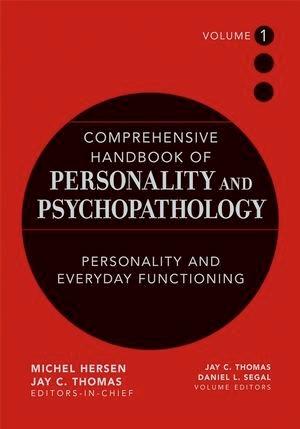 Abbildung von Thomas / Segal | Comprehensive Handbook of Personality and Psychopathology | 1. Auflage | 2005