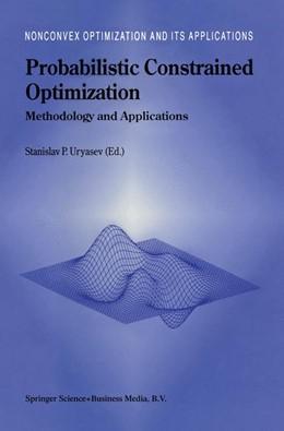 Abbildung von Uryasev | Probabilistic Constrained Optimization | 2000 | 49
