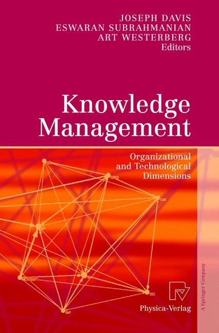Abbildung von Davis / Subrahmanian / Westerberg | Knowledge Management | 2005
