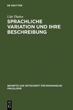 Abbildung von Thelen   Sprachliche Variation und ihre Beschreibung   Reprint 2011   1999