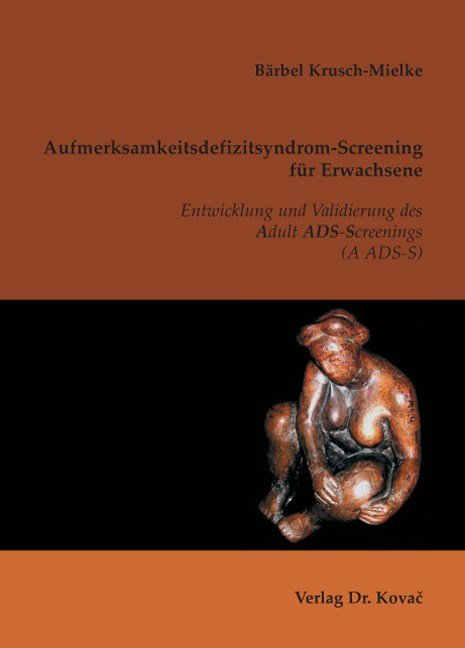Abbildung von Krusch-Mielke   Aufmerksamkeitsdefizitsyndrom-Screening für Erwachsene   2007