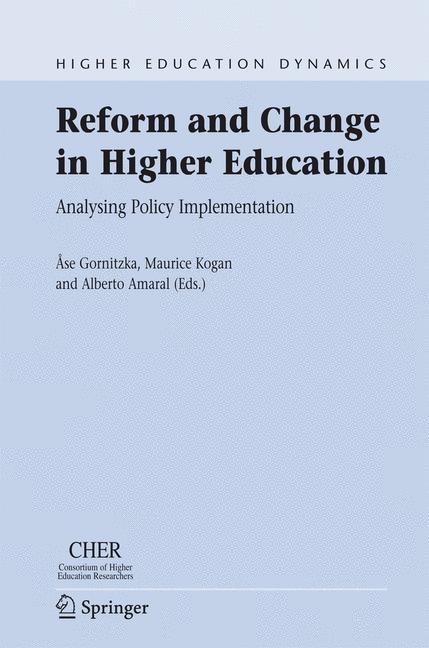 Abbildung von Gornitzka / Kogan / Amaral | Reform and Change in Higher Education | 2007
