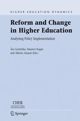Abbildung von Gornitzka / Kogan / Amaral   Reform and Change in Higher Education   2007   Analysing Policy Implementatio...   8