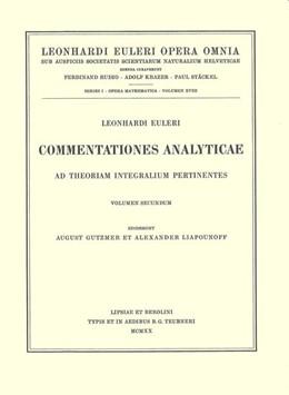 Abbildung von Euler / Dulac | Commentationes analyticae ad theoriam aequationum differentialium pertinentes 2nd part | 2nd edition | 1938 | 1 / 23