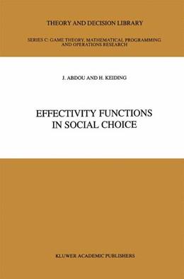 Abbildung von Abdou / Keiding | Effectivity Functions in Social Choice | 1991 | 8