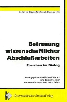 Abbildung von Schratz | Betreuung wissenschaftlicher Abschlußarbeiten | 1992