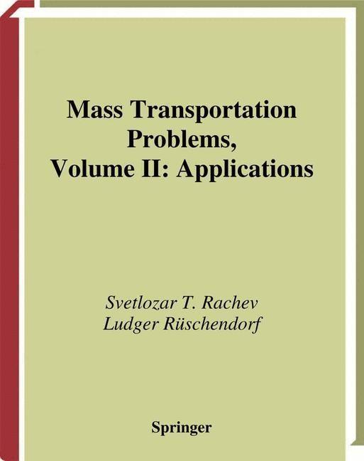 Abbildung von Rachev / Rüschendorf | Mass Transportation Problems | 1998