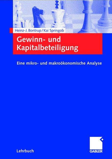 Gewinn- und Kapitalbeteiligung   Bontrup / Springob   2002, 2002   Buch (Cover)