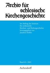 Abbildung von Köhler | Archiv für Schlesische Kirchengeschichte | 2006
