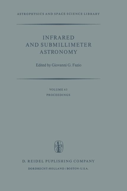 Abbildung von Fazio | Infrared and Submillimeter Astronomy | 1977