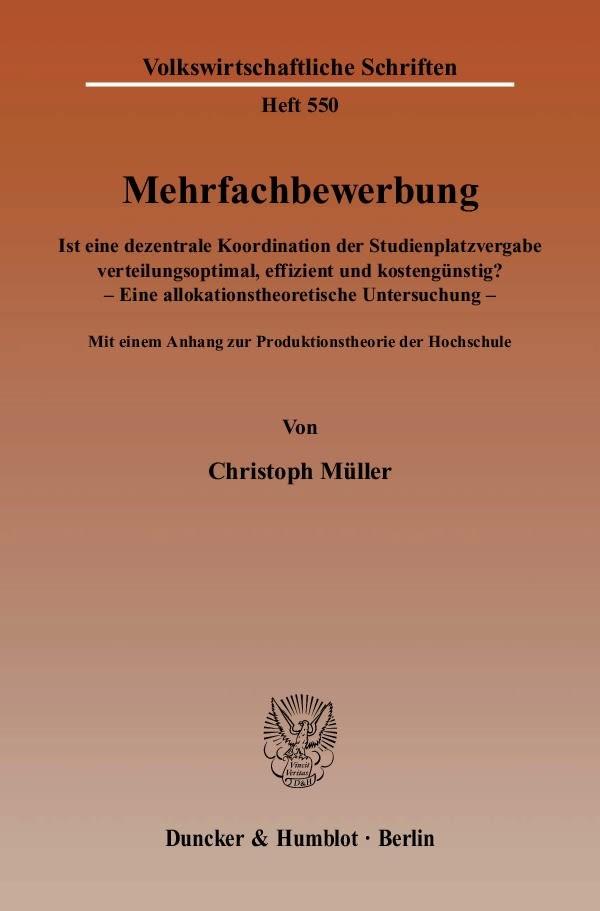 Abbildung von Müller | Mehrfachbewerbung | 2007