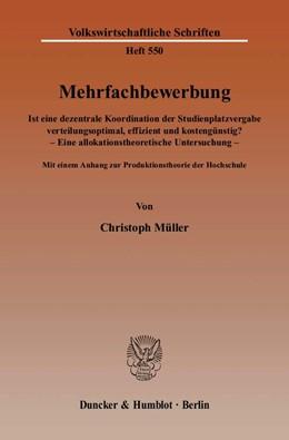 Abbildung von Müller | Mehrfachbewerbung | 2007 | Ist eine dezentrale Koordinati... | 550