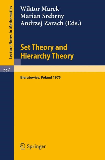 Abbildung von Marek / Srebrny / Zarach | Set Theory and Hierarchy Theory | 1976
