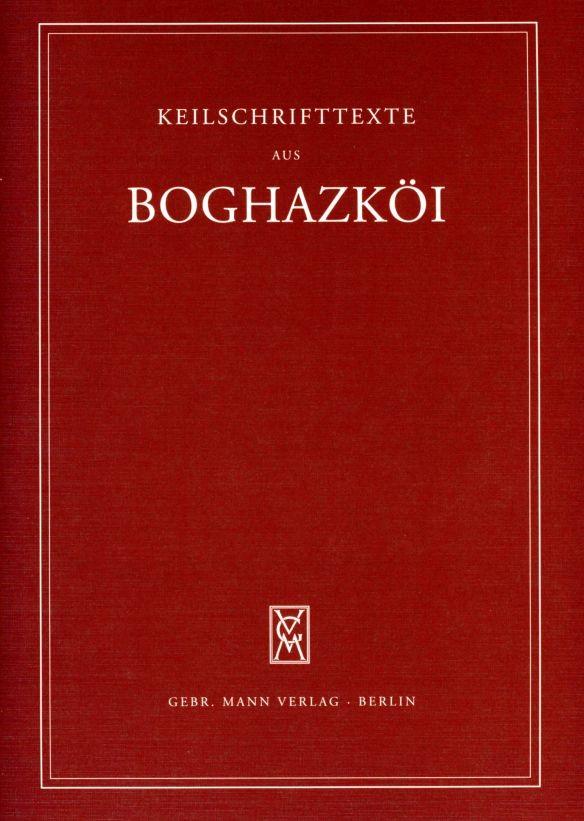Abbildung von Otten / Rüster   Textfunde von Büyükkale aus den Grabungen 1952-1959 mit Nachträgen aus den dreißiger Jahren   2003