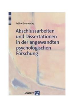 Abbildung von Sonnentag | Abschlussarbeiten und Dissertationen in der angewandten psychologischen Forschung | 2006