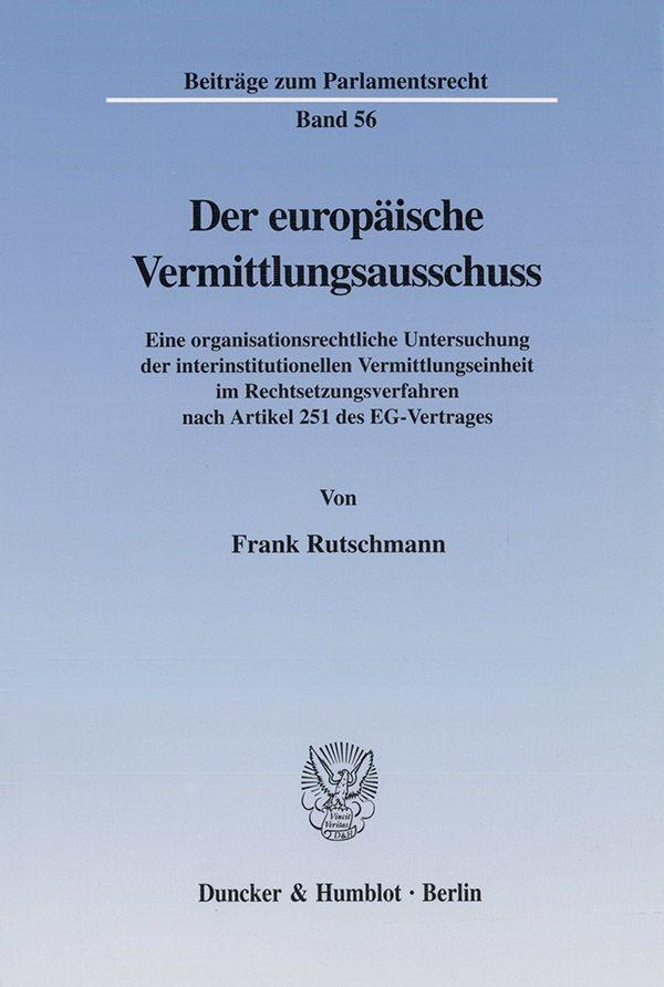 Abbildung von Rutschmann | Der europäische Vermittlungsausschuss. | 2002