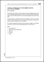 Abbildung von Meffert / Blome | Verfahren zur Bestimmung der Schimmelpilzkonzentration in der Luft am Arbeitsplatz (Kennzahl 9420, Stand 30. Lfg. IV/03) Sonderdruck aus Messung von Gefahrstoffen – BIA-Arbeitsmappe Expositionsermittlung bei chemischen und biologischen Einwirkungen | 2003