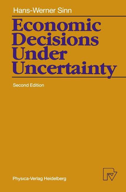 Abbildung von Sinn | Economic Decisions Under Uncertainty | 2nd Eiditon 1989 | 1989