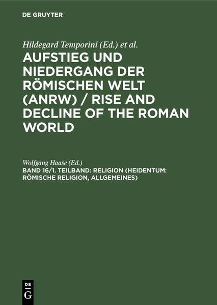 Abbildung von Haase   Religion (Heidentum: Römische Religion, Allgemeines)   Reprint 2014   1978