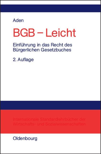 BGB - Leicht | Aden | 2., völlig überarbeitete Auflage. Reprint 2018, 2003 | Buch (Cover)