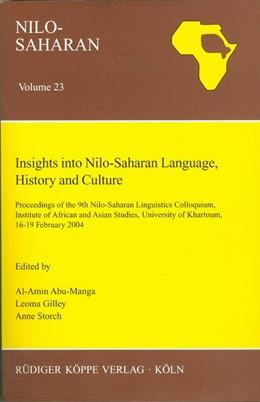 Abbildung von Abu-Manga / Gilley / Storch   Insights into Nilo-Saharan Language, History and Culture   2006   Proceedings of the 9th Nilo-Sa...   23