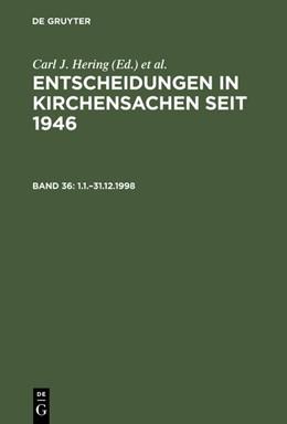 Abbildung von Muckel / Baldus | 1.1.–31.12.1998 | Reprint 2018 | 2002
