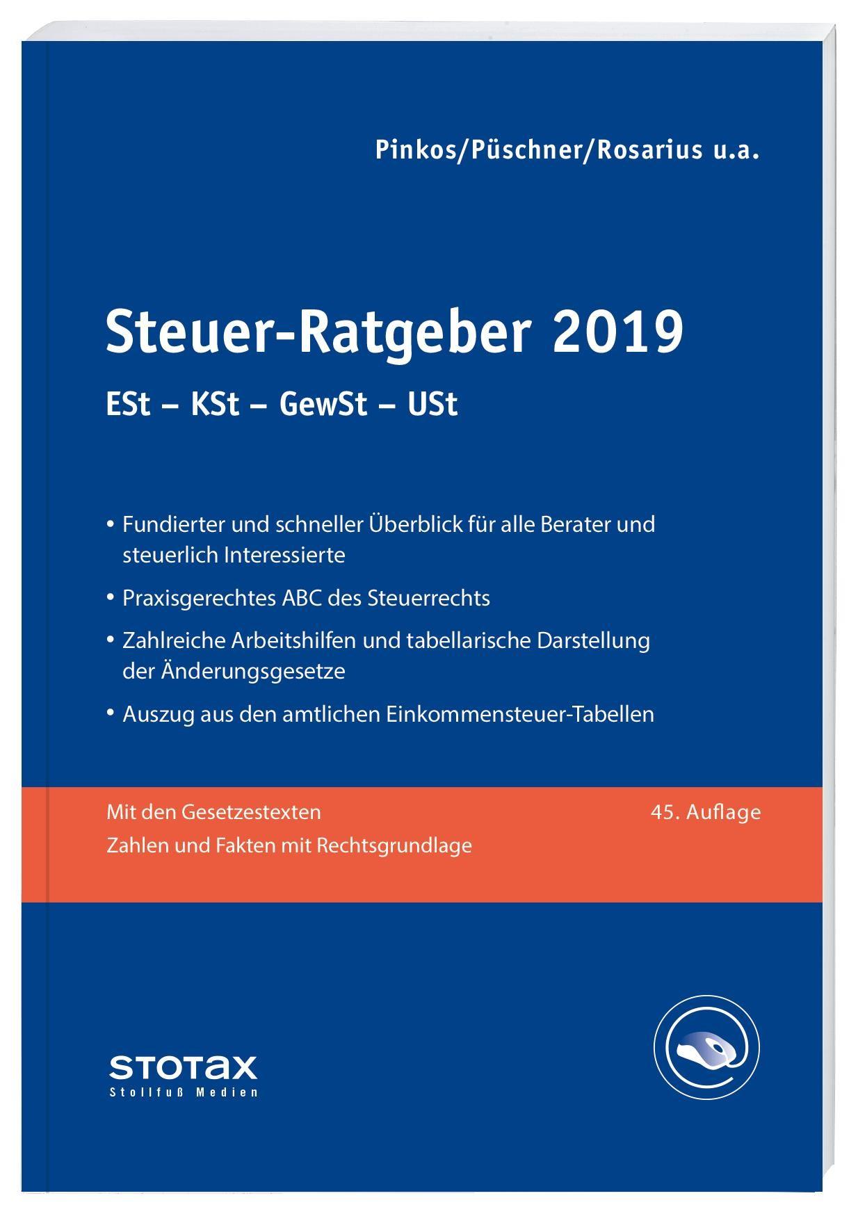 Abbildung von Boeddinghaus / Niermann / Pinkos u.a.   Steuer-Ratgeber 2018 • Online