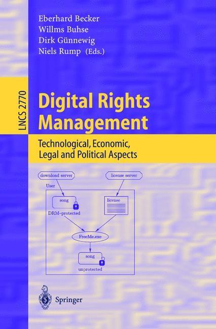 Abbildung von Becker / Buhse / Günnewig / Rump | Digital Rights Management | 2003