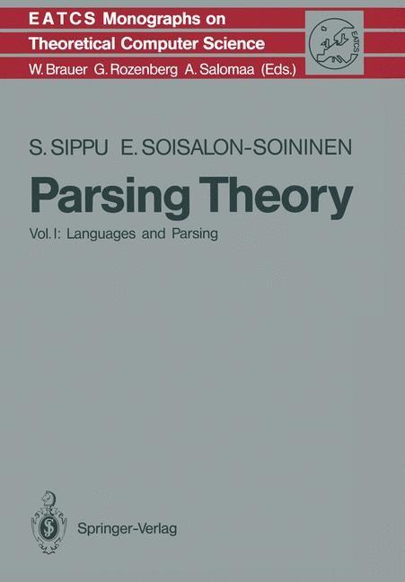 Abbildung von Sippu / Soisalon-Soininen | Parsing Theory | 1988