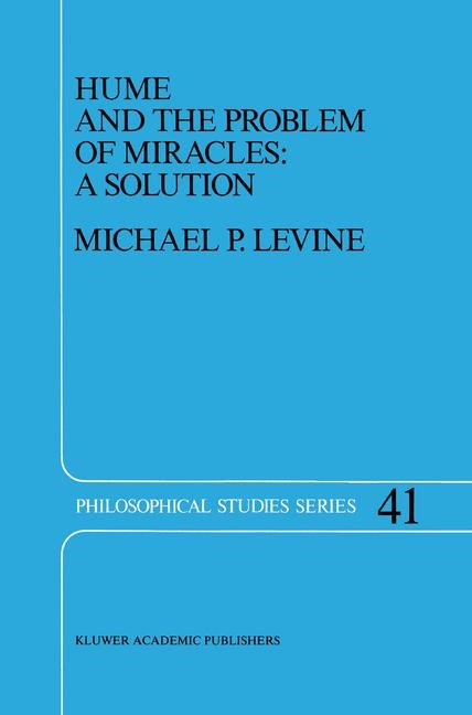 Abbildung von Levine | Hume and the Problem of Miracles: A Solution | 1988