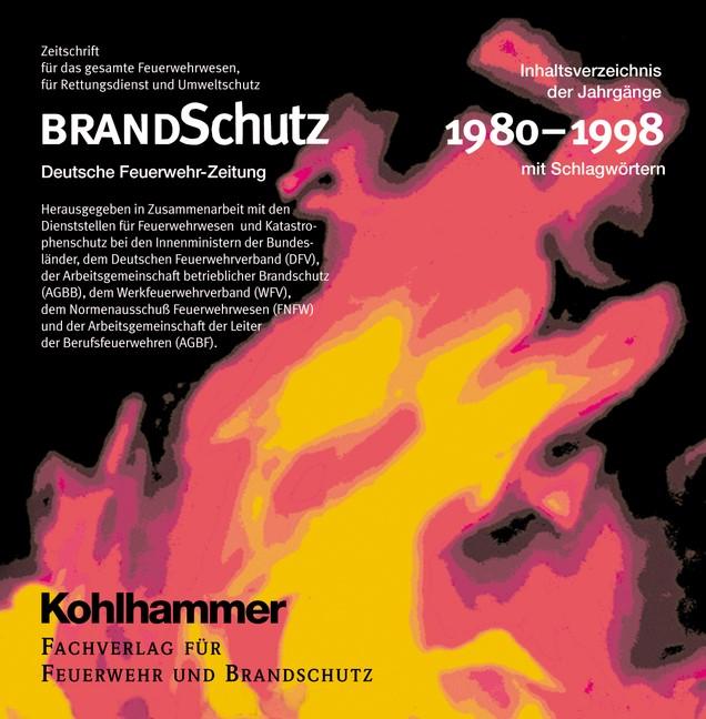 Abbildung von BRANDSchutz 1980-1998 auf CD-ROM | 34. - 52. Jahrgang | 2000