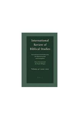 Abbildung von Lang | International Review of Biblical Studies, Volume 47 (2000-2001) | 2002 | (2000-2001) | 47