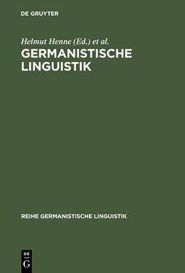 Abbildung von Henne / Sitta / Wiegand | Germanistische Linguistik | Reprint 2014 | 2003 | Konturen eines Faches | 240