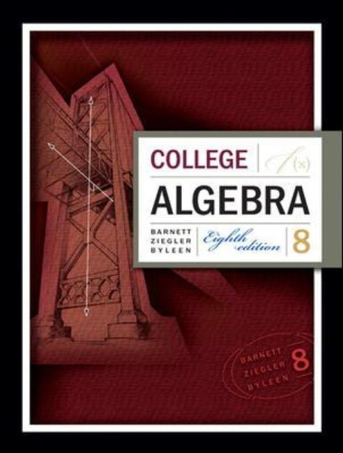 Abbildung von Barnett / Ziegler / Byleen | College Algebra | 2007