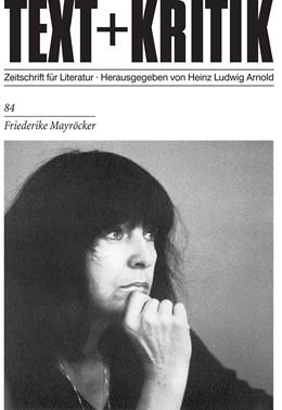 Abbildung von Friederike Mayröcker | 1. Auflage | 1984 | 84