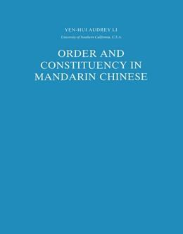 Abbildung von Li Yen Hui | Order and Constituency in Mandarin Chinese | 1990 | 19