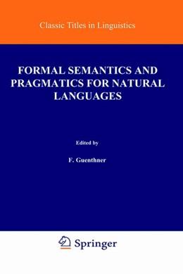 Abbildung von Guenthner / Schmidt | Formal Semantics and Pragmatics for Natural Languages | 1978 | 4