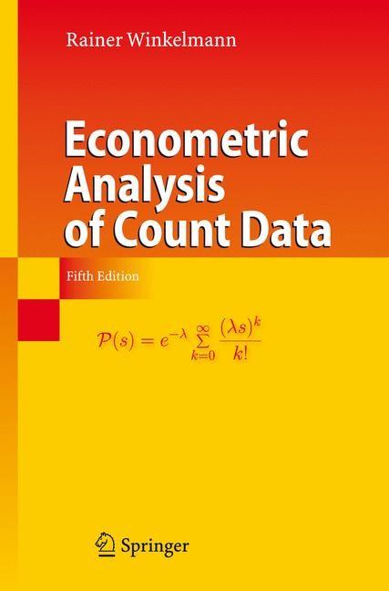 Abbildung von Winkelmann | Econometric Analysis of Count Data | 5th ed. | 2008