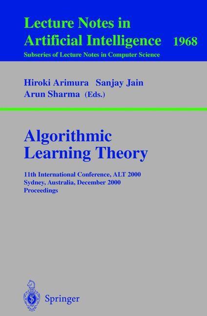 Abbildung von Arimura / Jain / Sharma | Algorithmic Learning Theory | 2000